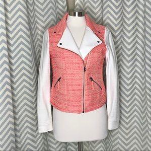 💥 Elevenses Blushed Tweed Moto jacket pink 6
